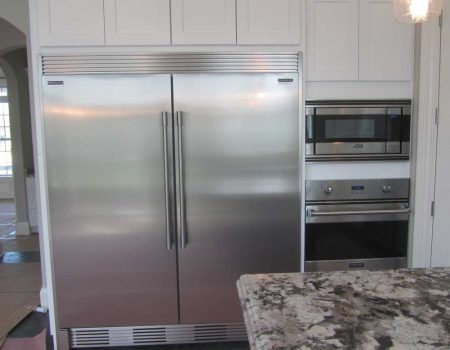 Double Fridge Kitchen