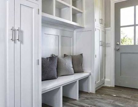 Mudroom White Cabinets
